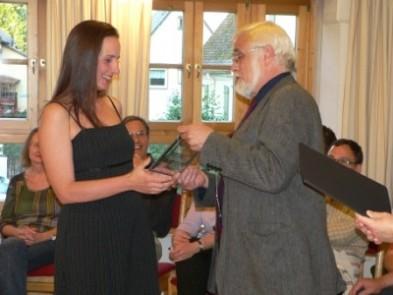 Verleihung des Karl-Steinbauer-Zeichens 2009 an Sabine Czerny, Grundschullehrerin aus Fürstenfeldbruck